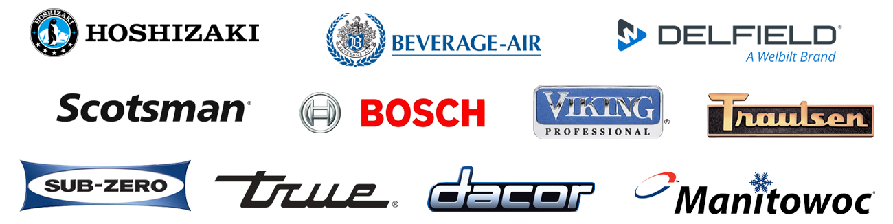 Some of the Commercial Refrigeration Brands we Service